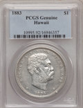 Coins of Hawaii, 1883 $1 Hawaii Dollar PCGS Genuine. The PCGS number ending in .92suggests Cleaning as the reason, or perhaps one of the r...