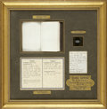 Military & Patriotic:Civil War, Mortally Wounded Union Soldier: Framed Grouping including Fatal Bullet. ...