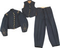 Military & Patriotic:Civil War, Outstanding and Rare New Jersey Officer's Jacket, Vest and Trousers.... (Total: 3 Items Items)