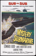 "Movie Posters:Adventure, Mystery Submarine (Universal, 1963). One Sheet (27"" X 41"").Adventure.. ..."