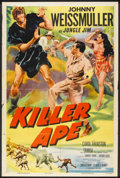 "Movie Posters:Adventure, Killer Ape (Columbia, 1953). One Sheet (27"" X 41""). Adventure.. ..."