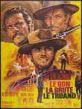 "Movie Posters:Western, The Good, the Bad and the Ugly (United Artists, R-1970s). French Grande (46"" X 61""). Western.. ..."