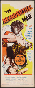"Movie Posters:Horror, The Neanderthal Man (United Artists, 1953). Insert (14"" X 36""). Horror.. ..."