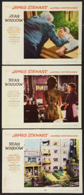 """Movie Posters:Hitchcock, Rear Window (Paramount, 1954). Lobby Cards (3) (11"""" X 14"""").Hitchcock.. ... (Total: 3 Items)"""