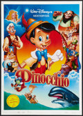 "Movie Posters:Animated, Pinocchio (Buena Vista, R-1990s). German A1 (23.25"" X 33"").Animated.. ..."
