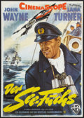 "Movie Posters:War, The Sea Chase (Warner Brothers, R-1960). German A1 (24"" X 33.5"").War.. ..."