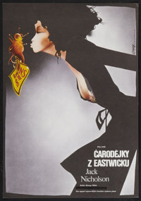 """The Witches of Eastwick (Warner Brothers, 1987). Czech Poster (11"""" X 16""""). Drama"""
