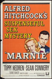 """Marnie (Universal, 1964). One Sheet (27"""" X 41"""") and Lobby Cards (2) (11"""" X 14""""). Hitchcock. ... (Tot..."""