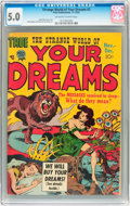 Golden Age (1938-1955):Horror, Strange World of Your Dreams #3 (Prize, 1952) CGC VG/FN 5.0Off-white to white pages....