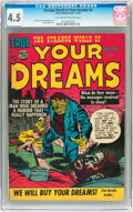 Golden Age (1938-1955):Science Fiction, Strange World of Your Dreams #4 (Prize, 1953) CGC VG+ 4.5 Light tanto off-white pages....