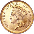 Three Dollar Gold Pieces, 1883 $3 MS65 NGC....