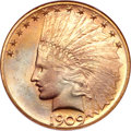 Indian Eagles, 1909-S $10 MS65 NGC....