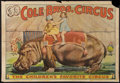 """Movie Posters:Miscellaneous, Circus Poster (Cole Brothers, 1930s). Poster (28"""" X 41""""). Miscellaneous.. ..."""