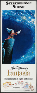 "Movie Posters:Animated, Fantasia (Buena Vista, R-1990). Insert (14"" X 36""). Animated.. ..."