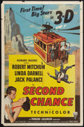 """Movie Posters:Thriller, Second Chance (RKO, 1953). One Sheet (27"""" X 41"""") 3-D Style. Thriller.. ..."""