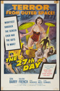 """Movie Posters:Science Fiction, The 27th Day (Columbia, 1957). One Sheet (27"""" X 41""""). Science Fiction.. ..."""