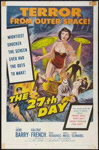 """The 27th Day (Columbia, 1957). One Sheet (27"""" X 41""""). Science Fiction"""
