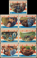 """Movie Posters:War, Sergeant York (Warner Brothers, R-1949). Lobby Cards (7) (11"""" X14""""). War.. ... (Total: 7 Items)"""
