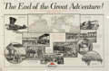 """Military & Patriotic:WWI, """"The End of a Great Adventure"""" 1924 Army Air Service Around theWorld Flight Mobil Oil Company Advertising Poster...."""