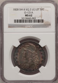 Bust Half Dollars, 1828 50C Square Base 2, Small 8, Large Letters MS62 NGC. O-121a,R.3....