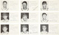 Baseball Collectibles:Others, Circa 1950's St. Louis Cardinals Signed Team Issued Postcards Lotof 9....