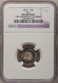 Bust Dimes: , 1832 10C --Obv Improperly Cleaned--NGC Details. AU. JR-2. NGCCensus: (8/216). PCGS Population (20/199). Mintage: 522,500. ...