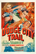 """Movie Posters:Western, Dodge City Trail (Columbia, 1936). One Sheet (27"""" X 41"""").. ..."""