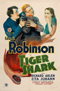 "Movie Posters:Drama, Tiger Shark (First National, 1932). One Sheet (27"" X 41"").. ..."