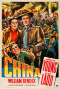 "Movie Posters:War, China (Paramount, 1943). One Sheet (27"" X 41"").. ..."