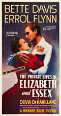 "Movie Posters:Drama, The Private Lives of Elizabeth and Essex (Warner Brothers, 1939).Three Sheet (41"" X 81"").. ..."