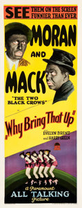 """Movie Posters:Comedy, Why Bring That Up? (Paramount, 1929). Insert (14"""" X 36"""").. ..."""