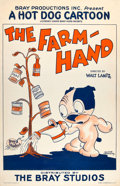 """Movie Posters:Comedy, The Farm-Hand (Bray Studios, 1927). One Sheet (27"""" X 41"""").. ..."""