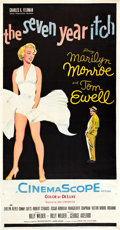 "Movie Posters:Comedy, The Seven Year Itch (20th Century Fox, 1955). Three Sheet (41"" X 81"").. ..."
