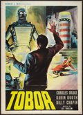 "Movie Posters:Science Fiction, Tobor the Great (Republic, 1954). Italian 2 - Folio (39"" X 55"").Science Fiction.. ..."