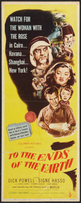 """To the Ends of the Earth (Columbia, 1947). Insert (14"""" X 36""""). Exploitation"""