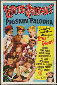 "Little Rascals Stock Poster (Monogram, R-1952). One Sheet (27"" X 41"") ""Pigskin Palooka."" Comedy"