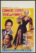 "Movie Posters:Comedy, Born Yesterday (Columbia, 1951). Belgian (14.5"" X 21.25""). Comedy.. ..."