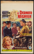 "Movie Posters:Adventure, Slave Ship (20th Century Fox, Late 1940s). Post War Belgian (14"" X2.5""). Adventure.. ..."