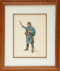Military & Patriotic:Civil War, Original Painting of an Enlisted Union Cavalryman by Don Troiani....