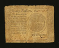 Colonial Notes:Continental Congress Issues, Continental Currency September 26, 1778 $20 Very Good-Fine....