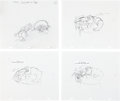animation art:Production Drawing, Ren & Stimpy Layout Drawing Original Art Group Plus(Spumco, 2002).... (Total: 11 Items)