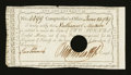 Colonial Notes:Connecticut, Connecticut Interest Payment Certificate. June 24, 1789. Choice About New....
