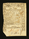 Colonial Notes:Rhode Island, Rhode Island May 1786 6d Extremely Fine....