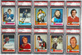 Hockey Cards:Lots, 1974-75 Topps Hockey PSA NM-MT 8 Graded Collection (48)....