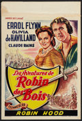 "Movie Posters:Adventure, The Adventures of Robin Hood (Warner Brothers, R-1948). Belgian(14"" X 21""). Adventure.. ..."