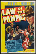 """Movie Posters:Western, Law of the Pampas (Paramount, 1939). One Sheet (27"""" X 41""""). Western.. ..."""