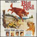 "Movie Posters:Adventure, Big Red (Buena Vista, 1962). Six Sheet (81"" X 81""). Adventure.. ..."