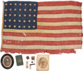 """Military & Patriotic:Civil War, """"William Letford- Flag Flown At His Tent At The Battle Of Gettysburg"""" is the Printed Ink Legend, 1/4"""" to 3/8"""" Tall, on the Low... (Total: 12 Items)"""