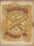Military & Patriotic:Civil War, Center Section of the Civil War Headquarters Flag of C. Company, 14th Ohio Light Artillery....