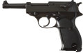 """Military & Patriotic:WWII, Walther P-38 Zero Series, Third Sub-variation, Circa 1940. Cal. 9mm. Serial Number 09027. 5"""" Barrel...."""